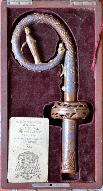 crosse de saint Gal, Trésor de la Cathédrale de Clermont