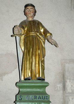 saint Géraud , statue, Saint-Saturnin