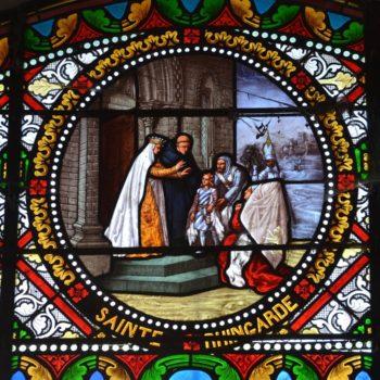 Pierre le vénérable et sa mère, sainte Reingarde, église de Montboissier