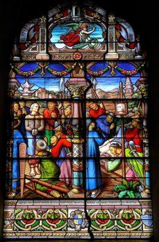 Lezoux, saint Gabriel-Taurin Dufresse, vitrail Gaudin