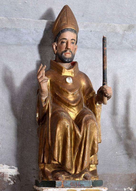 saint Gal, église d'Antoingt, statue