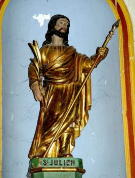 saint Julien de Brioude, statue, église de Saint-Julien-de Coppel