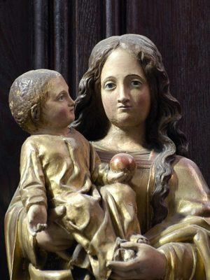 Cathédrale de Clermont, statue, Notre-Dame d'Août
