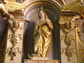 cathédrale de Clermont, Vierge de l'Assomption, retable des ursulines
