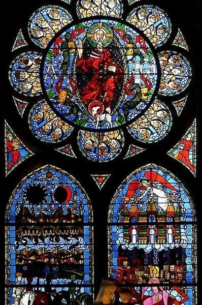 cathédrale de Clermont, vitrail de l'Apocalypse, 1982, Alain Makaraviez