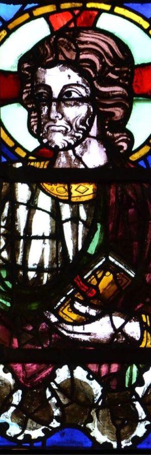 cathédrale de Clermont, verrière haute, Christ
