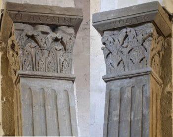 Champeix, église colonnes