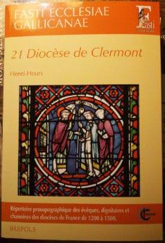 Fasti Ecclesiae Gallicanae, diocèse de Clermont