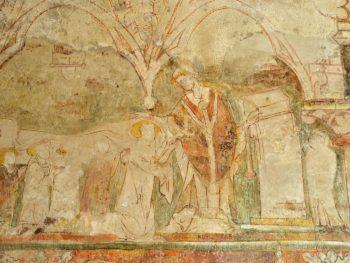Montfermy, église, peinture murale, mariage