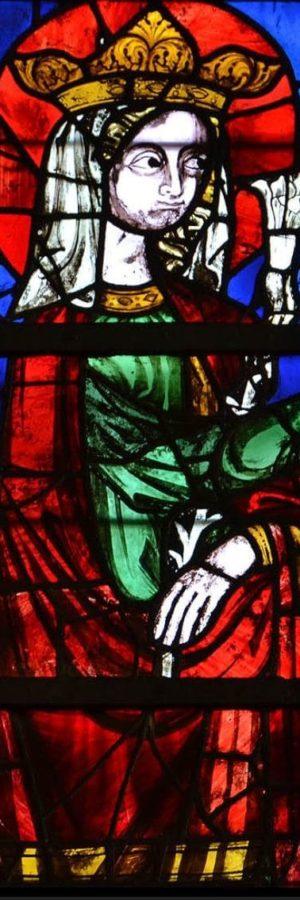 cathédral de Clermont, verrière haute, Vierge