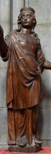 cathédrale de Clermont, statue de sainte Ursule