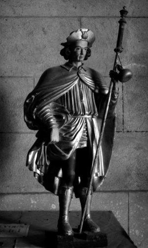 Statue saint Roch, photo Bernard Craplet, Amis de la Cathédrale Clermont