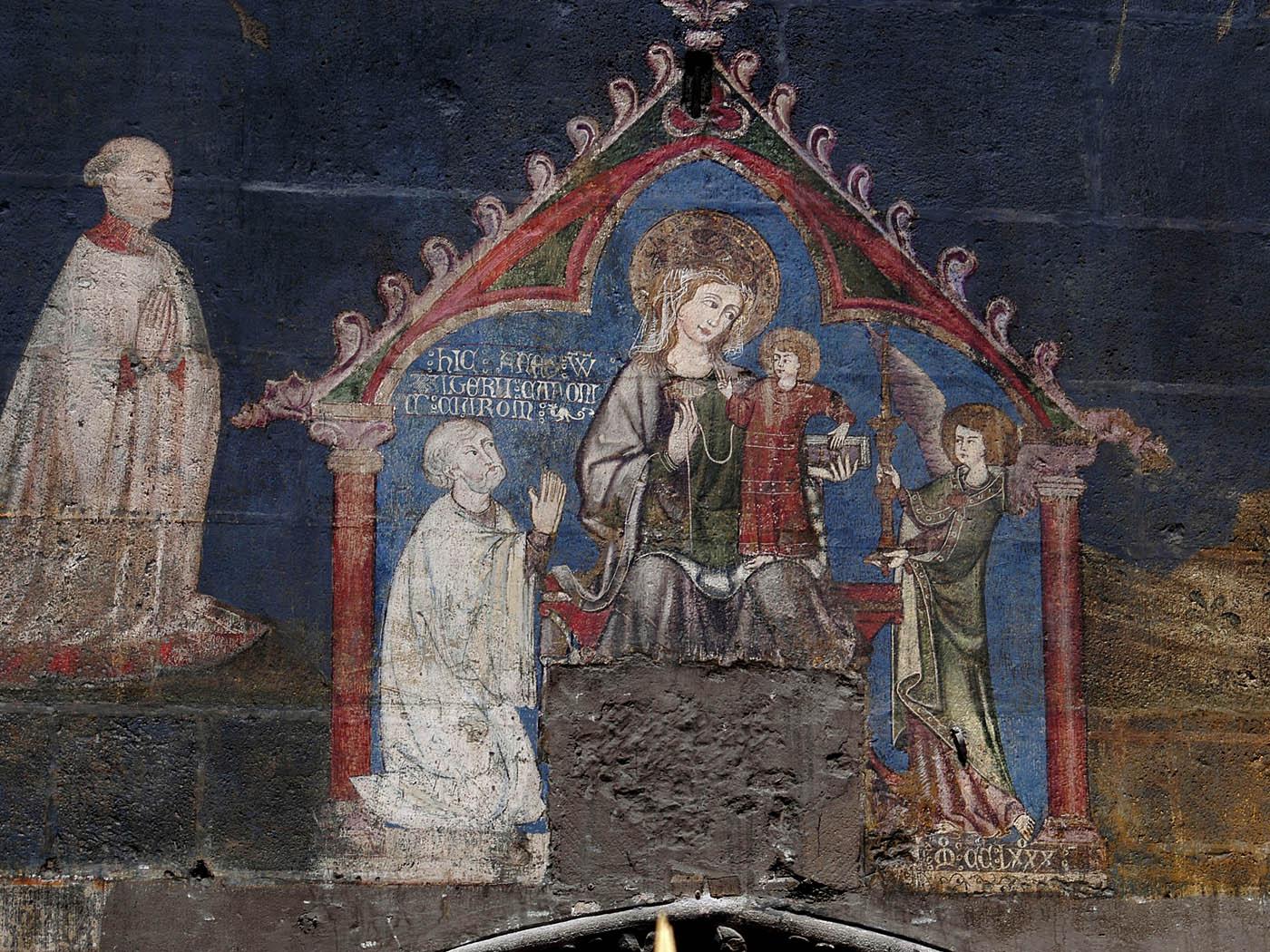 peinture XIIIe cathédrale de Clermont