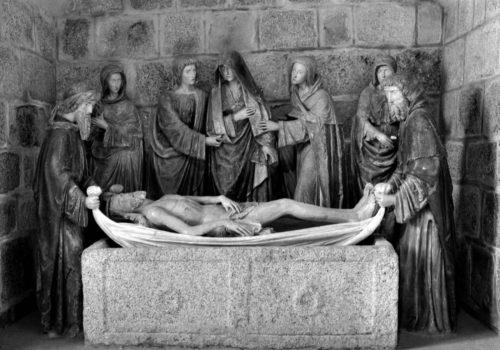Montel-de-Gelat, église, photo Bernard Craplet, Mise au tombeau