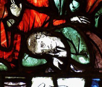 Cathédrale de Clermont, vitrail XIIIe, Trésor, saint Jean