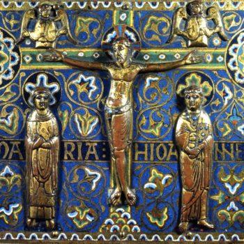 Chasse de Mozac, Christ en croix, photo Bernard Craplet
